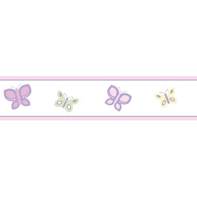 Sweet Jojo Designs Butterfly Wallpaper Border In Pink