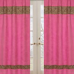 Sweet Jojo Designs Cheetah Girl Window Panel Pair