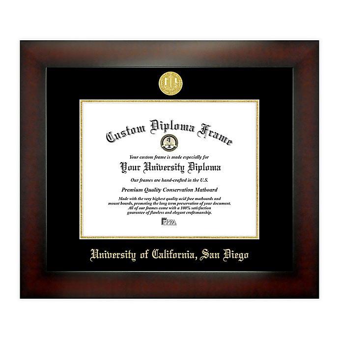 Alternate image 1 for University of California, San Diego 8.5-Inch x 11-Inch Medallion Diploma Frame