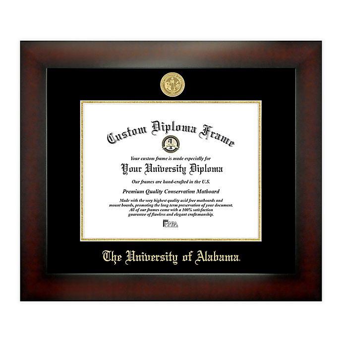 Alternate image 1 for University of Alabama 8.5-Inch x 11-Inch Medallion Diploma Frame