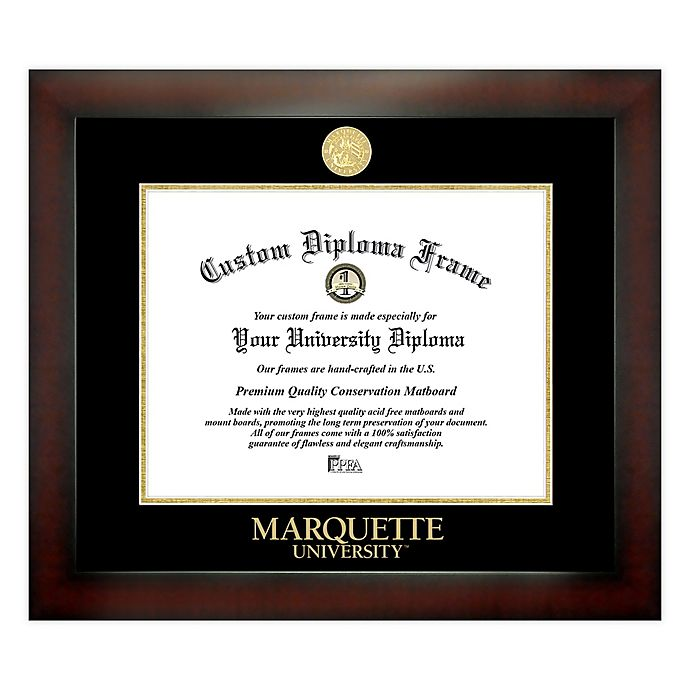 Alternate image 1 for Marquette University 9-Inch x 12-Inch Medallion Diploma Frame