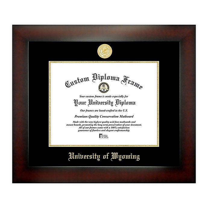 Alternate image 1 for University of Wyoming 8.5-Inch x 11-Inch Medallion Diploma Frame