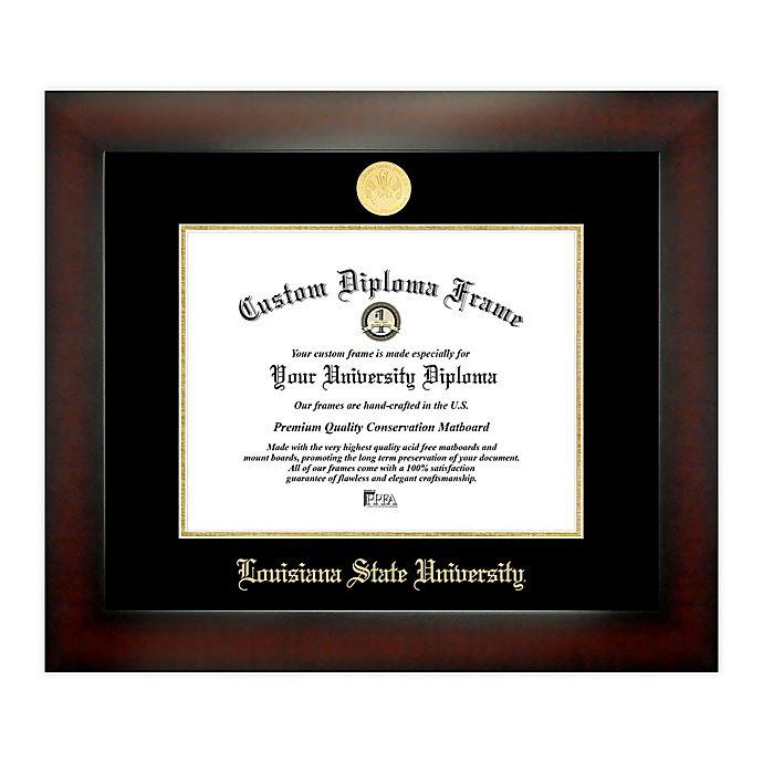 Alternate image 1 for Louisiana State University 8.5-Inch x 11-Inch Medallion Diploma Frame