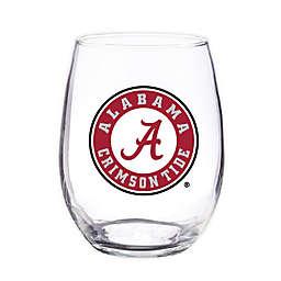 University of Alabama 4-Piece 16 oz. Clear Plastic Stemless Wine Glasses Set