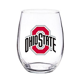 Ohio State University 4-Piece 16 oz. Clear Plastic Stemless Wine Glasses Set