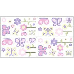 Sweet Jojo Designs® Butterfly Wall Decal Stickers in Pink/Purple