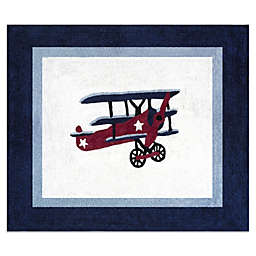 Sweet Jojo Designs Vintage Aviator 36-Inch x 30-Inch Accent Rug