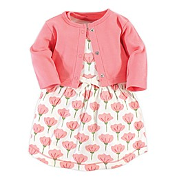 Touched by Nature 2-Piece Tulip Organic Cotton Dress and Cardigan Set