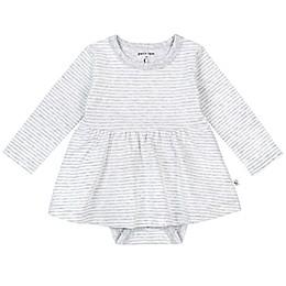 Petit Lem™ Organic Cotton Long Sleeve Bodysuit Dress in Grey