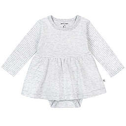 Petit Lem™ Organic Cotton Long Sleeve Bodysuit Dress in Grey