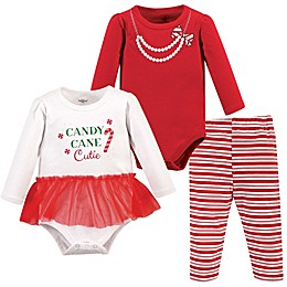Little Treasure™ 3-Piece Holiday Bodysuits and Pant Set