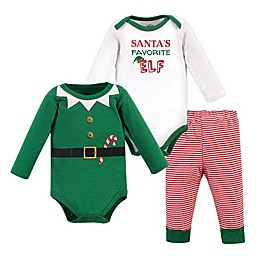 Little Treasure 3-Piece Holiday Bodysuit and Pant Set