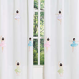 Sweet Jojo Designs Ballerina Window Panel Pair