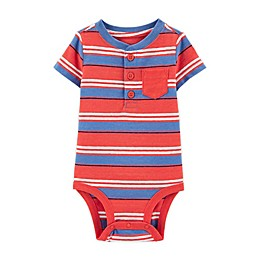 OshKosh B'gosh® Stripe Henley Bodysuit