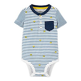 OshKosh B'gosh® Smiley Stripe Henley Bodysuit