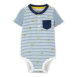 OshKosh B'gosh® Smiley Stripe Henley Bodysuit