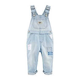 OshKosh B'gosh® Eyelet Patch Denim Overalls in Light Wash