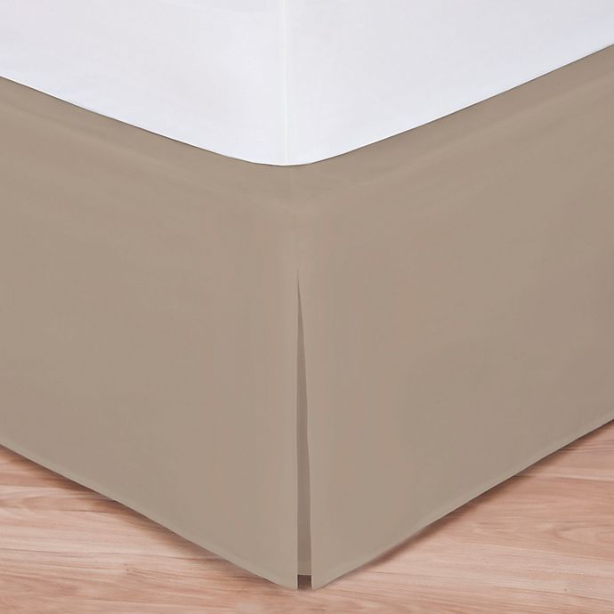 Alternate image 1 for Wrap-Around Wonderskirt King Bed Skirt in Taupe