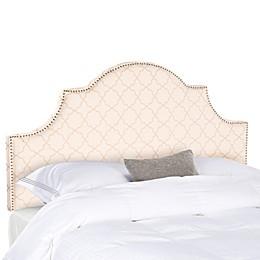Safavieh Hallmar Arched Headboard in Pale Pink/Beige