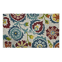 "Easy Care Jacobean 1'8"" x 2'10"" Indoor/Outdoor Accent Rug"
