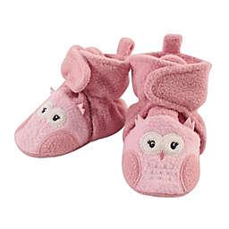 Hudson Baby Size 18-24M Rainbow Unicorn Fleece Booties in Light Pink