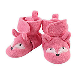 Hudson Baby Size 18-24M Miss Fox Fleece Booties in White/Pink