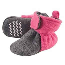 Hudson Baby® Fleece Booties in Pink/Grey