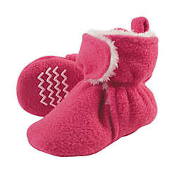 Hudson Baby® Size 0-6M Sherpa Booties in Cream/Pink