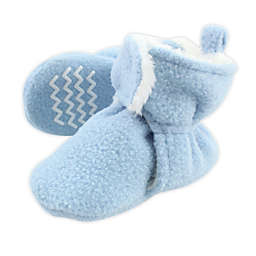 Hudson Baby® Size 0-6M Sherpa Booties in Light Blue