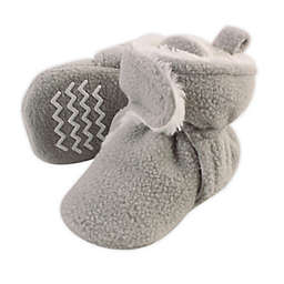 Hudson Baby Size 12-18M Sherpa-Lined Fleece Scooties in Neutral Grey