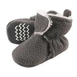 Hudson Baby Size 12-18M Sherpa-Lined Fleece Scooties in Charcoal