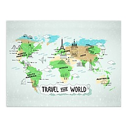 Travel the World Map 30x40 Canvas