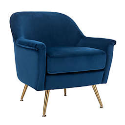 Safavieh Brienne Armchair in Navy