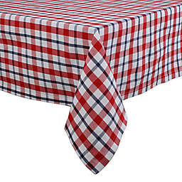 DII American Plaid Tablecloth in Red/White