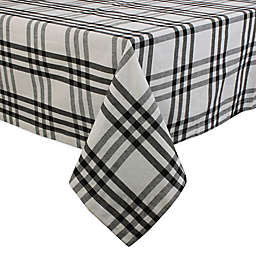 DII Homestead Plaid Tablecloth in Black