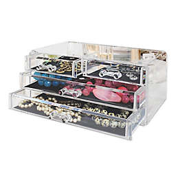 Splash Home 4-Drawer Jewelry and Cosmetic Organizer in Clear