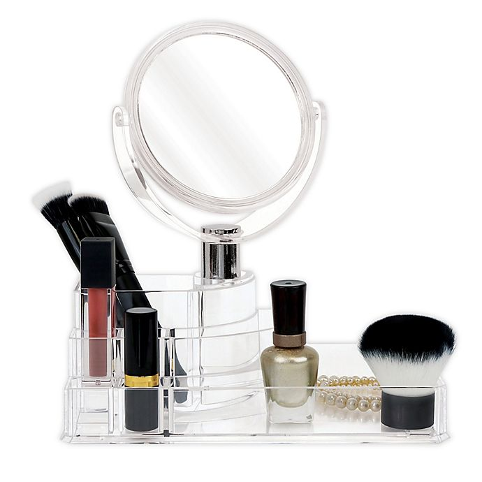 Alternate image 1 for Splash® Cosmetic Organizer with Mirror