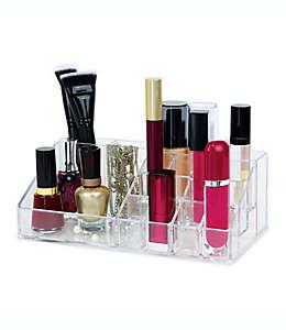 Organizador para cosméticos con 16 compartimentos transparente