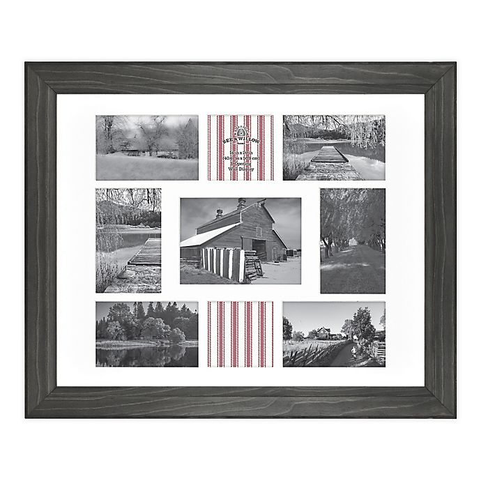 Alternate image 1 for Bee & Willow™ Home 9-Photo Collage Matted Picture Frame in New Oxford Black