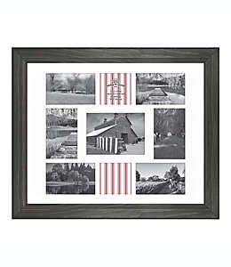 Portarretratos de madera Bee & Willow™  para 9 fotos en negro