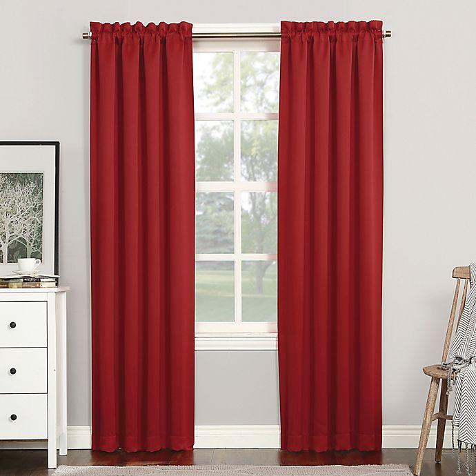 Alternate image 1 for Sun Zero® Mariah Room Darkening Rod Pocket Window Curtain Panel