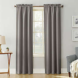 Sun Zero® Mariah Room Darkening 63-Inch Rod Pocket Window Curtain Panel in Gray