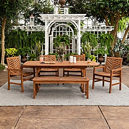 Forest Gate Olive Acacia Wood Patio Furniture Collection