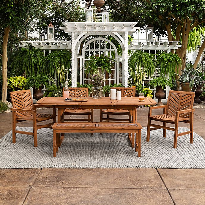Alternate image 1 for Forest Gate Olive Acacia Wood Patio Furniture Collection