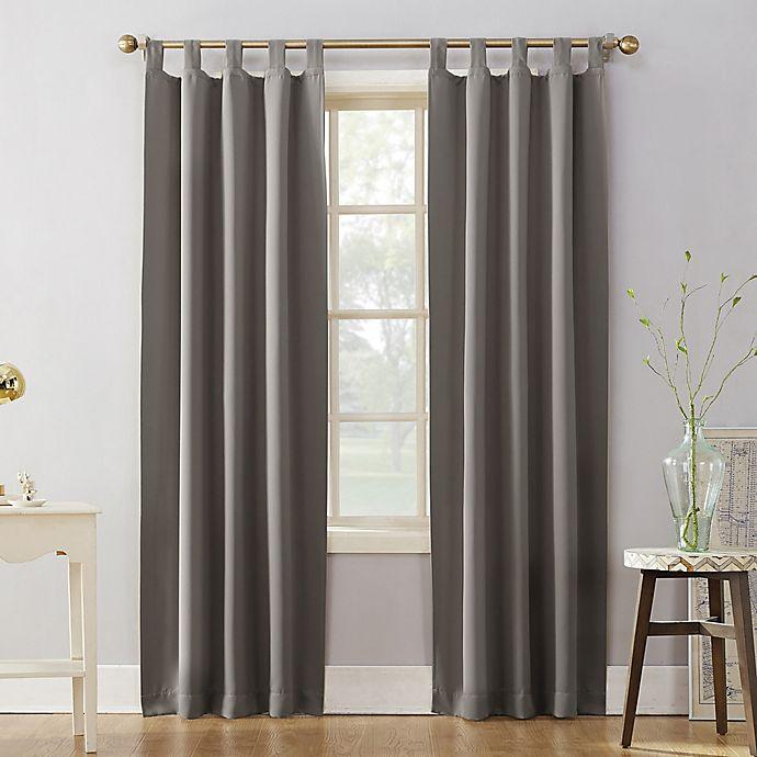 Alternate image 1 for Sun Zero® Mariah 95-Inch Tab Top Curtain Panel in Grey (Single)