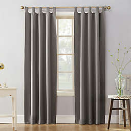 Sun Zero® Mariah 95-Inch Tab Top Curtain Panel in Grey (Single)