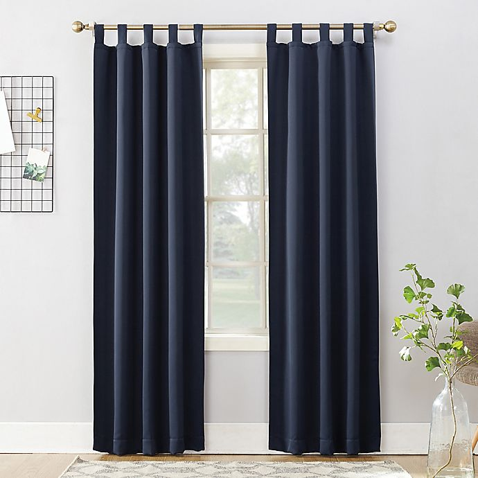 Alternate image 1 for Sun Zero Mariah 95-Inch Tab Top Curtain Panel in Navy