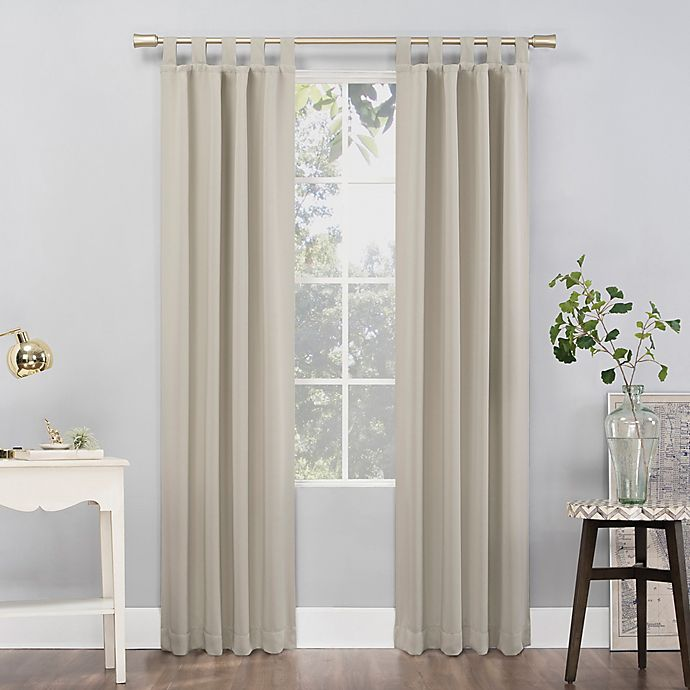Alternate image 1 for Sun Zero Mariah 84-Inch Tab Top Curtain Panel in Pearl