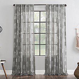 Archaeo® Fossilized Floral Cotton Sheer Curtain Panel