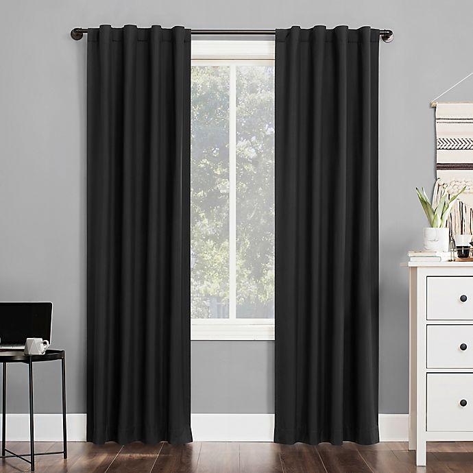 Alternate image 1 for Sun Zero® Cyrus Back Tab 100% Blackout Window Curtain Panel